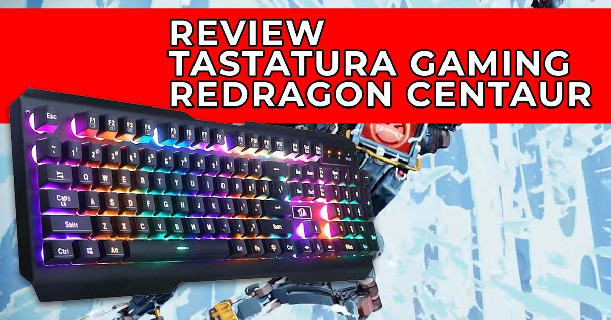 tastatura gaming redragon centaur rgb